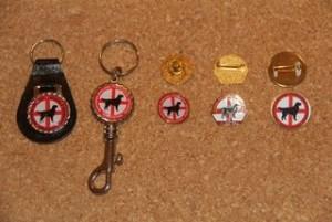 Leather Key Fob £2 Metal Key Clip £2.50 Club Badges £2 (three styles)