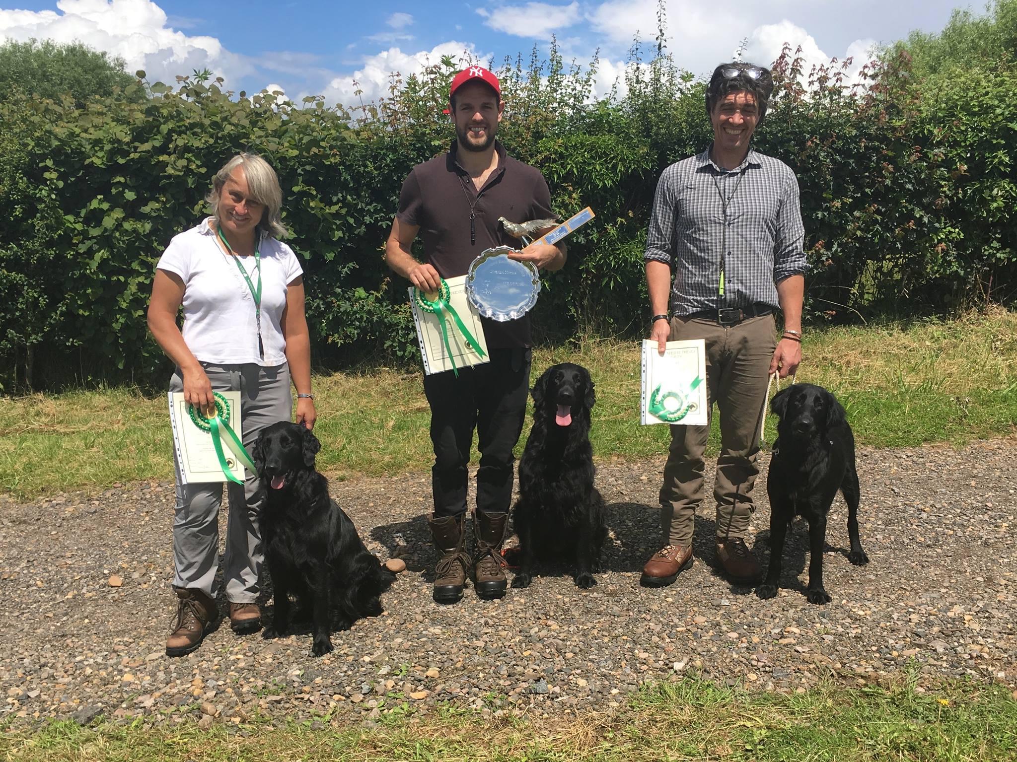 Caroline Hewison, Lewis Holton & Andy Sweeney NOVICE prizewinners