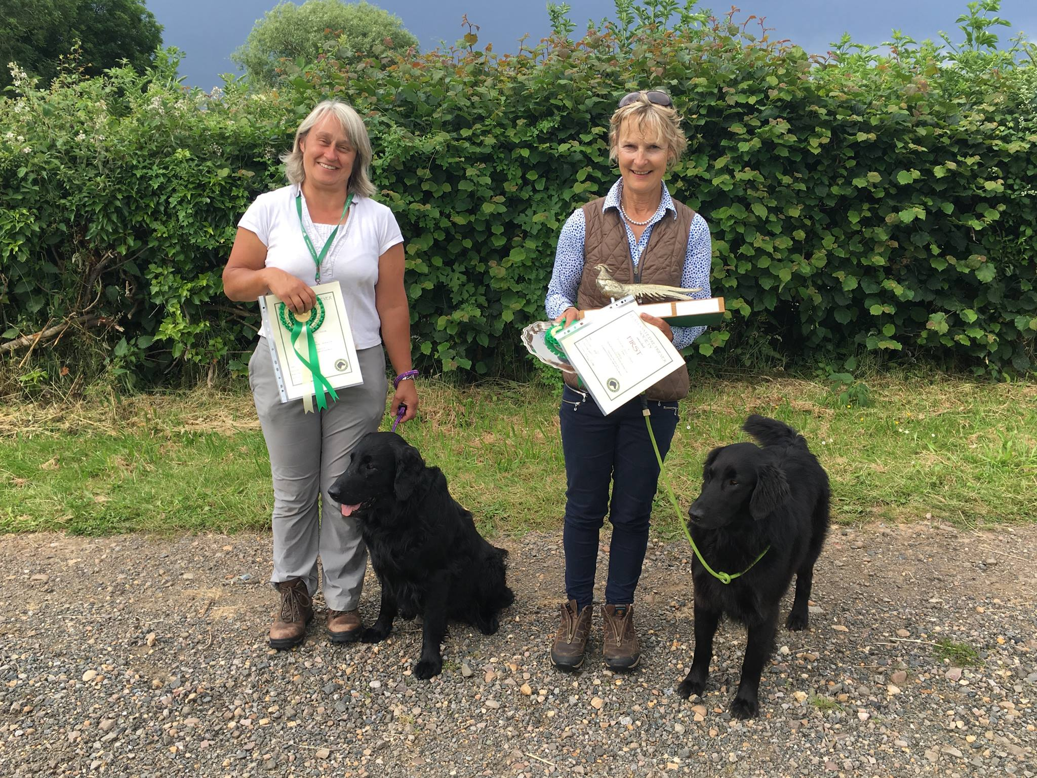 Caroline Hewison and Jacqui Crew OPEN Prizewinners