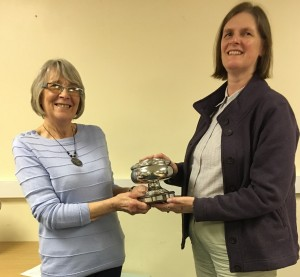 The Inca trophy is presented to Jane Hedges