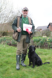 Novice Dog novice handler winner Dave Locking with Blakanis Wyken Pippin