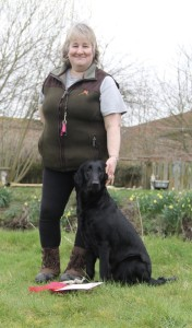 Puppy test winner Jan Egginton and Pajanbeck Georgy Girl